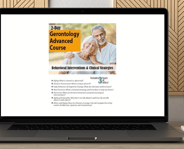 Geoffrey W. Lane - 2-Day Gerontology Advanced Course: Behavioral Interventions & Clinical Strategies by https://koiforest.com/