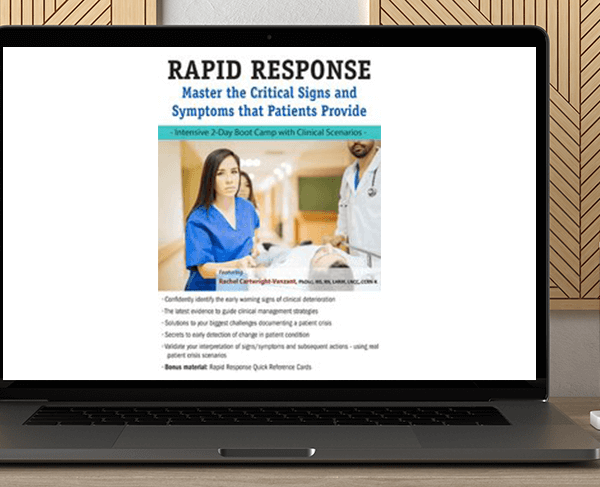 Rachel Cartwright-Vanzant - 2-Day: Rapid Response: Master the Critical Signs and Symptoms that Patients Provide by https://koiforest.com/