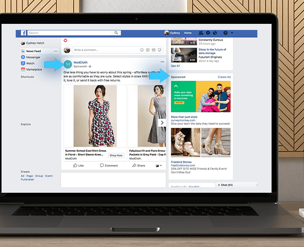 Facebook Page With A Shop For Facebook Ads by https://koiforest.com/