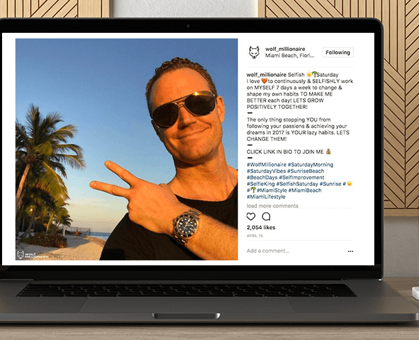 Anthony Carbone - Wolf Millionaire of INSTAGRAM by https://koiforest.com/