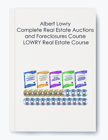 Albert Lowry – Complete Real Estate Auctions and Foreclosures Course LOWRY Real Estate Course by https://koiforest.com/