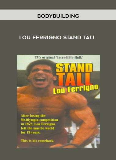 Bodybuilding - Lou Ferrigno Stand Tall by https://koiforest.com/
