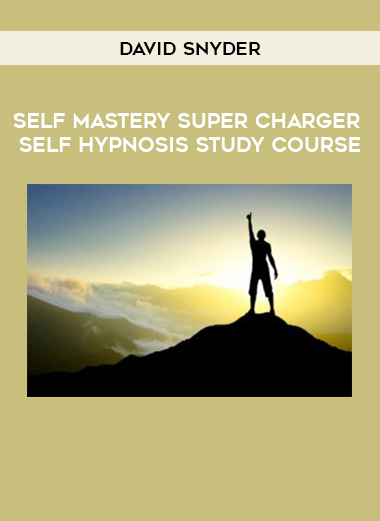 David Snyder – Self Mastery Super Charger Self Hypnosis Study Course by https://koiforest.com/