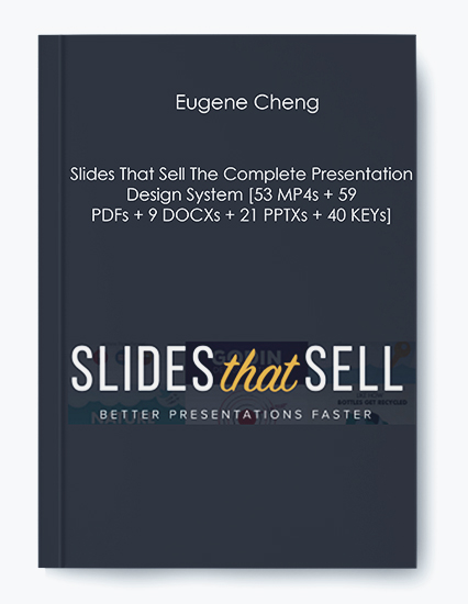 Eugene Cheng – Slides That Sell The Complete Presentation Design System [53 MP4s + 59 PDFs + 9 DOCXs + 21 PPTXs + 40 KEYs] by https://koiforest.com/