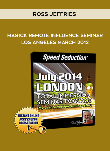 Ross Jeffries – Magick Remote Influence Seminar – Los Angeles March 2012 by https://koiforest.com/