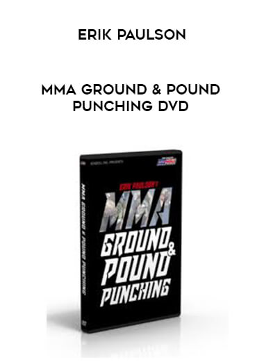 MMA Ground & Pound Punching DVD with Erik Paulson form https://koiforest.com/