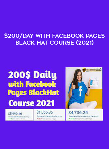 $200/Day With Facebook Pages Black Hat Course (2021) form https://koiforest.com/