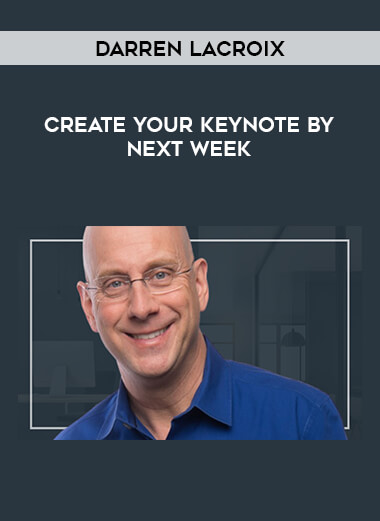 Darren LaCroix - CREATE YOUR KEYNOTE BY NEXT WEEK form https://koiforest.com/