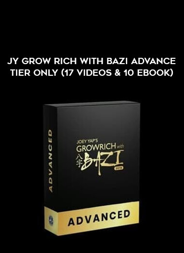 JY Grow Rich With Bazi Advance Tier Only (17 Videos & 10 Ebook) form https://koiforest.com/