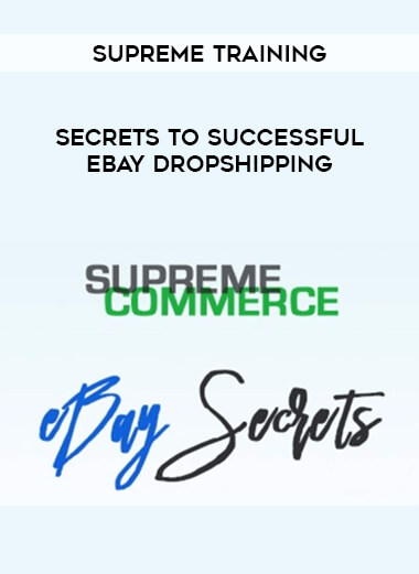 Supreme Training - Secrets To Successful Ebay Dropshipping form https://koiforest.com/