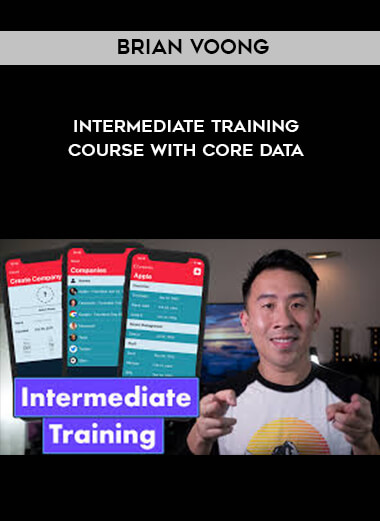 Brian Voong - Intermediate Training Course with Core Data form https://koiforest.com/