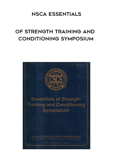 NSCA Essentials of Strength Training and Conditioning Symposium form https://koiforest.com/