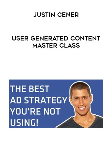 Justin Cener - User Generated Content Master Class form https://koiforest.com/