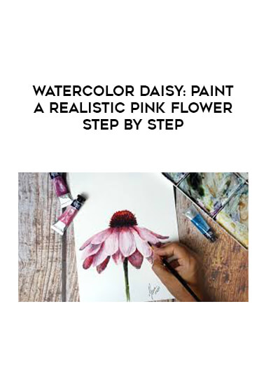 Watercolor Daisy: Paint a Realistic Pink Flower Step by Step form https://koiforest.com/