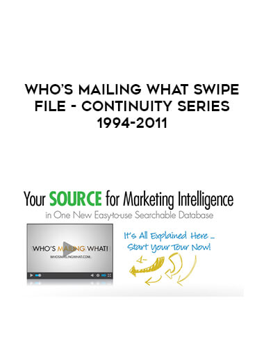 Who's Mailing What Swipe File - Continuity Series 1994-2011 form https://koiforest.com/